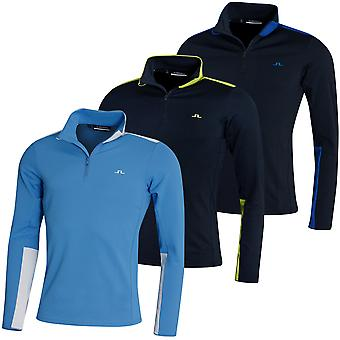 J. Lindeberg Mens Garry Moisture Wicking Stretch 1/4 Zip Golf Sweater