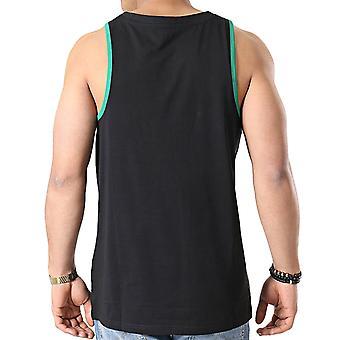 ニューエラ メンズ NBA ボストン セルティックス ダブルチーム ロゴ ベスト タンク トップ - ブラック
