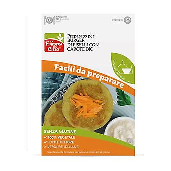 Prepared for gluten-free pea burger with carrots 86 g