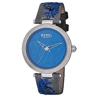 Rebel Women's Carroll Gardens Navy Dial Cloth Watch