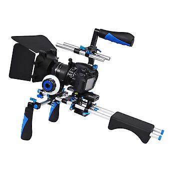 YELANGU D230-2 C-muotoinen käsivarsikiinnityskamera Olkakiinnityssarja mattalaatikolla &; &Seuraa DSLR:n tarkennuksen etsintä DV Digitaalinen video &; muut kamerat, joissa on 1/4 i