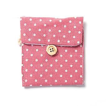 منديل منشفة تخزين المنظم -السدادة القطنية وسادة محفظة حقيبة