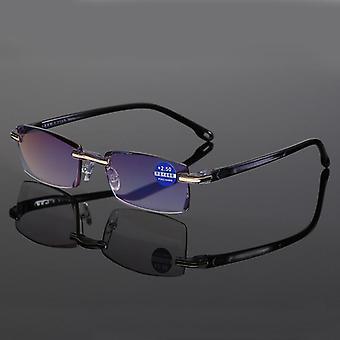 Ultralight Rimless & Transparent, Frameless Computer Glasses Reader 1.5 2.