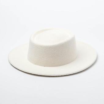 Mulheres 100% Chapéus de Lã, Tampa de Fedoras de Brim Larga para festa de casamento