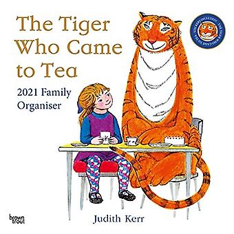 The Tiger Who Came To Tea 2021 Square Family Organiser With Stickers Calendar by Browntrout