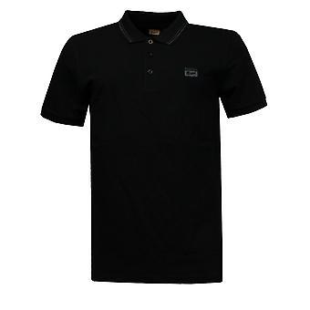 Onitsuka Tigers Casual Mens Short Sleeve Polo Shirt Black 110982 0900 A6B