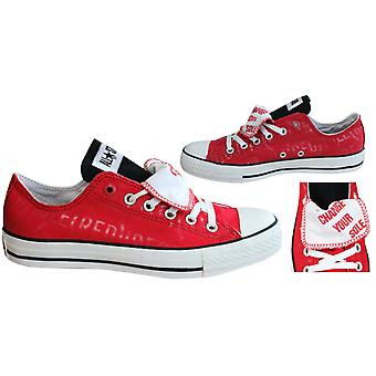 Converse Chuck Taylor All Star Double Tongue Red Ox Mens Trainers 103444F B82C