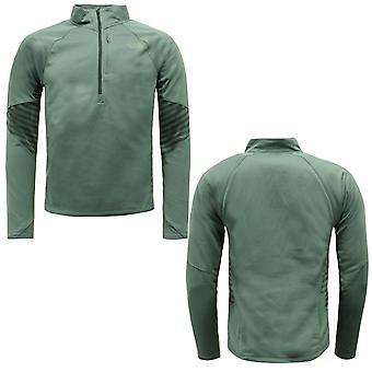North Face Mens Isotherm Half Zip Sweatshirt Jumper Grön NF0A2V59WVT X19B