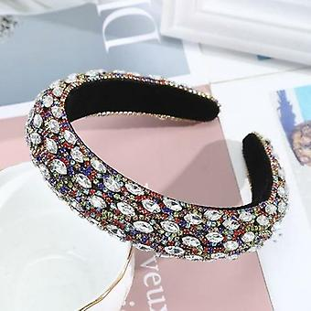 Baroque Wide Headband Winter Bezel Hair Hoop New Rhinestones