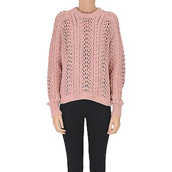 Samsoe O Samsoe Ezgl628001 Women's Pink Cotton Sweater