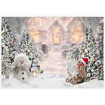 Allenjoy 7x5ft christmas winter snowman backdrop for photography xmas tree snow gifts snowflake back