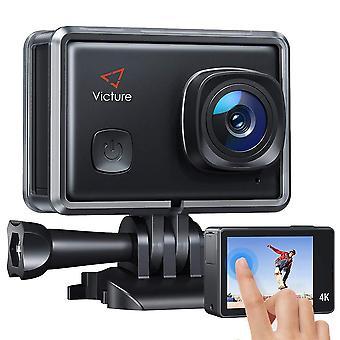 Victure ac900 4k οθόνη αφής κάμερα δράσης wi-fi 20mp αδιάβροχο 30m υποβρύχια βιντεοκάμερα σκι helme