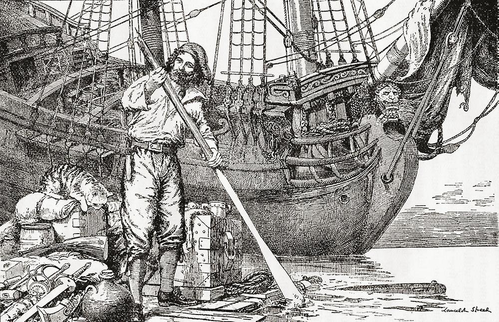 Картинка капитан в плоту