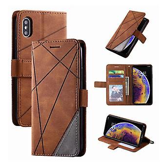 Cosas certificadas® Xiaomi Pocophone F1 Flip Case - Cartera de cuero PU cuero cartera cubierta Cas Caja marrón