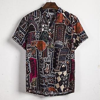 Men Linen Shirts Tops