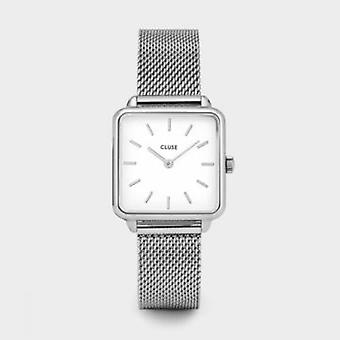 Cluse Ladies La Tetragone Silver Square Quartz Fashion Watch CL60001
