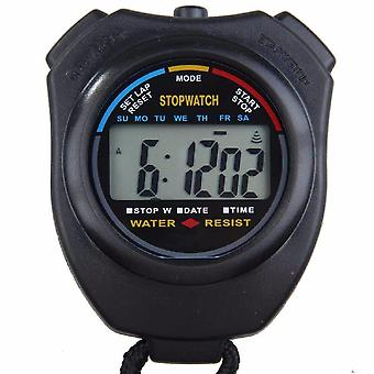 Abs waterdichte digitale handheld lcd chronograaf sport stopwatch