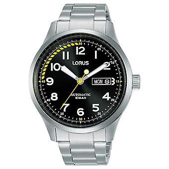 Lorus Mens | Automatisk | Svart urtavla | Rostfritt stål armband RL457AX9 Klocka