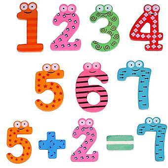 Wooden Montessori Baby Number Magnets Figure Stick Mathematics Kids