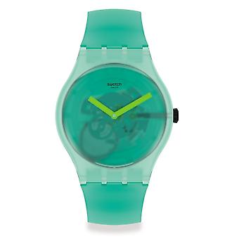 Swatch Suog119 Nature Blur Green Silicone Watch