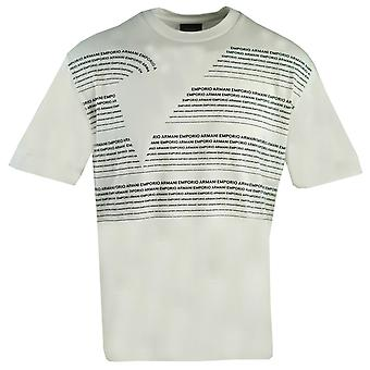 Emporio Armani Large Lettering Logo White T-Shirt