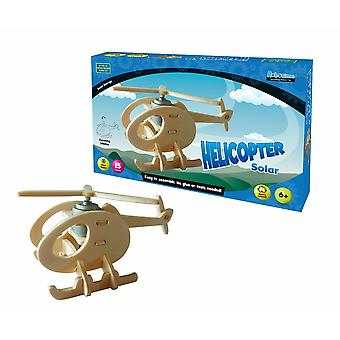 Solar helicopter 15 pieces no glue or tools needed