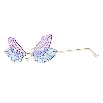 Mode Rimless Libelle Flügel Sonnenbrille