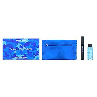 Naj Oleari Black Sporty Volume Mascara 15ml, Makeup Remover 50ml & Pouch Set
