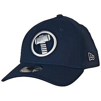 Thor Mjolnir Symbole Color Block New Era 39Thirty Fitted Hat