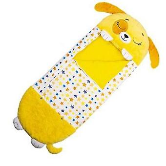 Happy Nappers Children sleeping bag,Memory Foam Pillow Sleeping Bag,Yellow dog