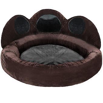tectake Hundeseng Balou - sort/brun, Ø 95 x 33 cm