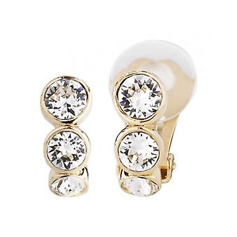 Traveller Clip Earring - 22ct Gold Plated - Swarovski Crystals - 155804 - 427