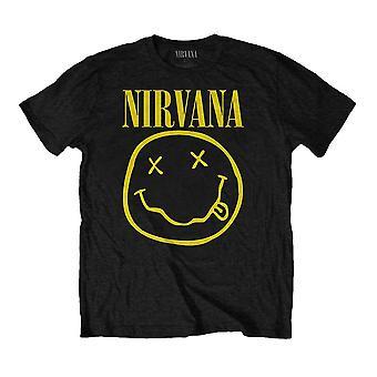 Children's Nirvana Smiley Logo Black Crew Neck T-Shirt