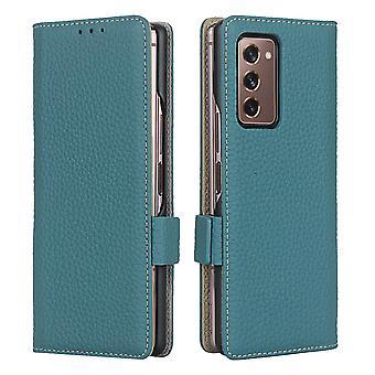 Samsung galaxy fold 2 musta iskunkestävä puhelinkotelo korttipaikan lompakkoon