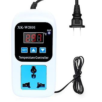 LED Thermometer Temperature Controller Digital Thermostat Switch  With Probe for Reptiles Brewing Seedling Aquarium pet breeding Incubation 110-220V 1500W US Standard