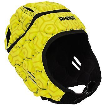 Rhino pro head guard jnr yellow UK Size