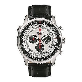 Schweiziske Alpine Militær 7078.9538SAM Mænds Watch Chronograph