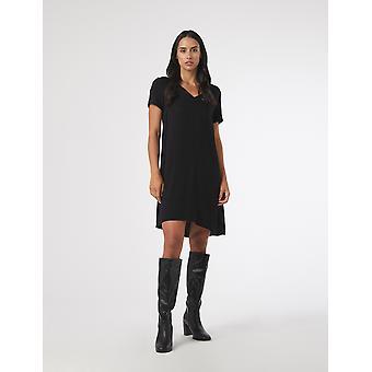 Shuuk Kortärmad V-Ringa Krage A-Line Jersey Klänning - Bekväm viskosklänning