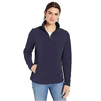 Essentials Women's Classic Fit Long-Sleeve Quarter-Zip Polar Fleece Pullover Jacket