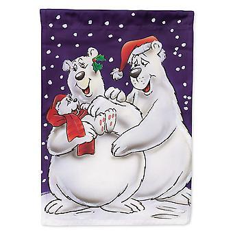 Caroline's Treasures Aah7269Gf Holiday Polar Bears Garden Flag, Piccolo, Multicolore