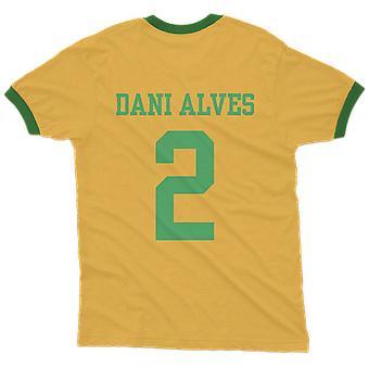 Dani alves 2 brazil country ringer t-shirt