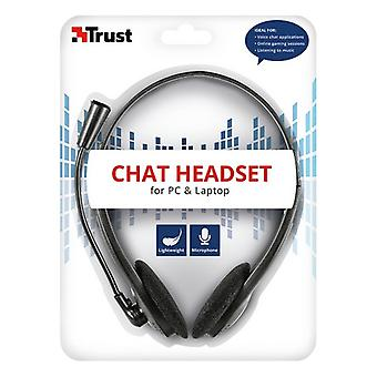 Headphones with Microphone Trust Black (Refurbished A)