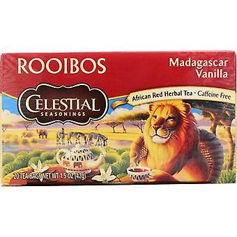 Celestial Seasonings Tea Red Madagascar Van, Case of 6 X 20 Bags