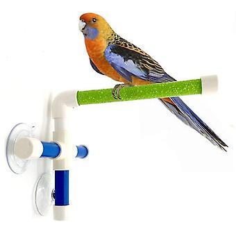 Saugnäpfe Haustier Vögel Papageien Baden Dusche Stehplattform Bar Dual Stick Pfote Schleifen Halterung Station Interessante Barsch