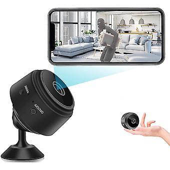 Mini WiFi Vakoojakamera Langaton Piilokamera Mini Cam HD 1080p Kodin turvakamera liiketunnistuksen hälytysvalvontahälytyskameralla (musta)