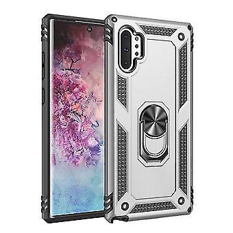 Boîtier TPU + PC résistant aux chocs avec stand pour Samsung Galaxy Note 10+ / 10 Plus - Argent