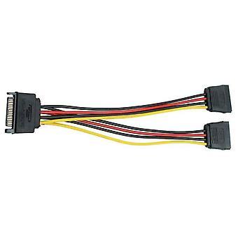 15 Pin SATA Male na 2 SATA Female SATA Napájecí kabel Y Splitter