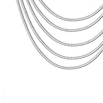 Snake Chain, 5pcs Plated 925 Silver Necklaces For Diy Bracelet Jewelry Decoration, Silver