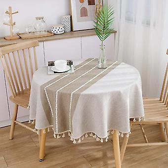 Dekoracyjny obrus bawełniany obrus Okrągłe obrusy Stół do jadalni Mantel Mesa