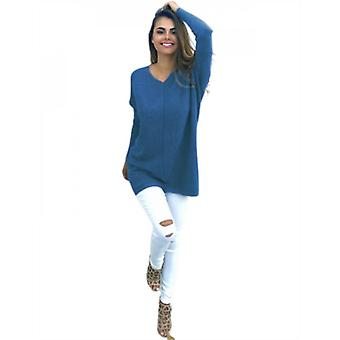 Women's Sweaters Casual Long Sleeve Pullover Knit Sweater Tops
